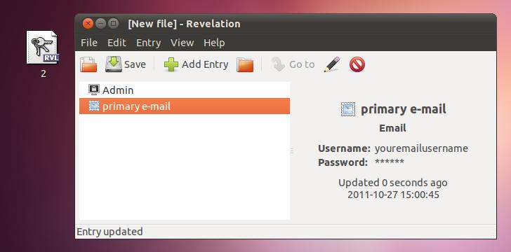 Revelation-password-manager-in-Ubunu